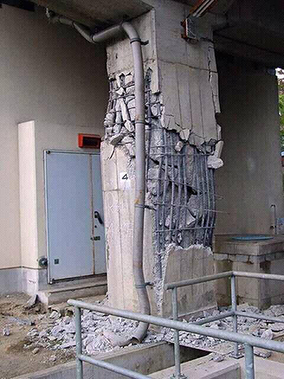 What Could Be Reason Of Failure Of This Concrete Column