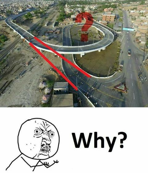 Why is this flyover circular instead of being straight?